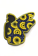 ReformedSchool Blue and Gold Butterfly Pin by ReformedSchool