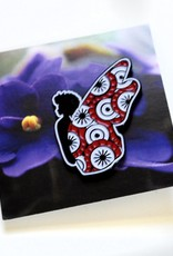 ReformedSchool Red and White Butterfly Pin by ReformedSchool