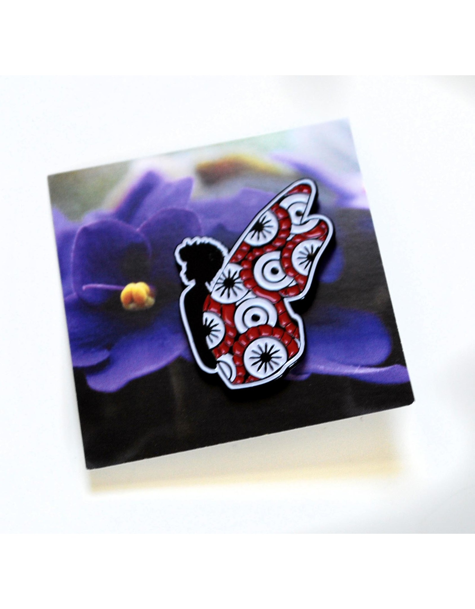 Red and White Butterfly Pin by ReformedSchool