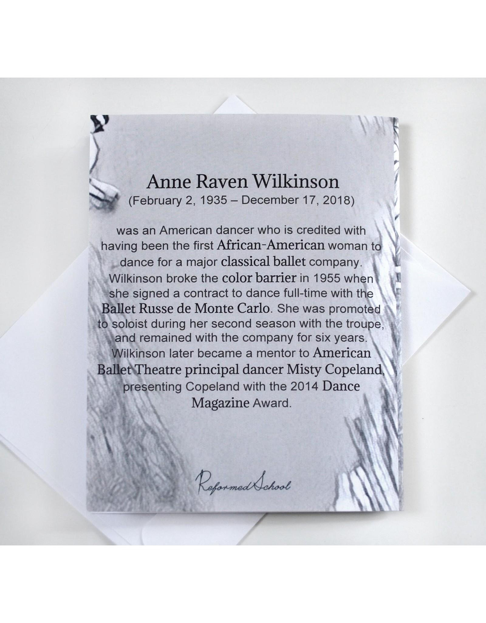 Raven Wilkinson Greeting Card by ReformedSchool