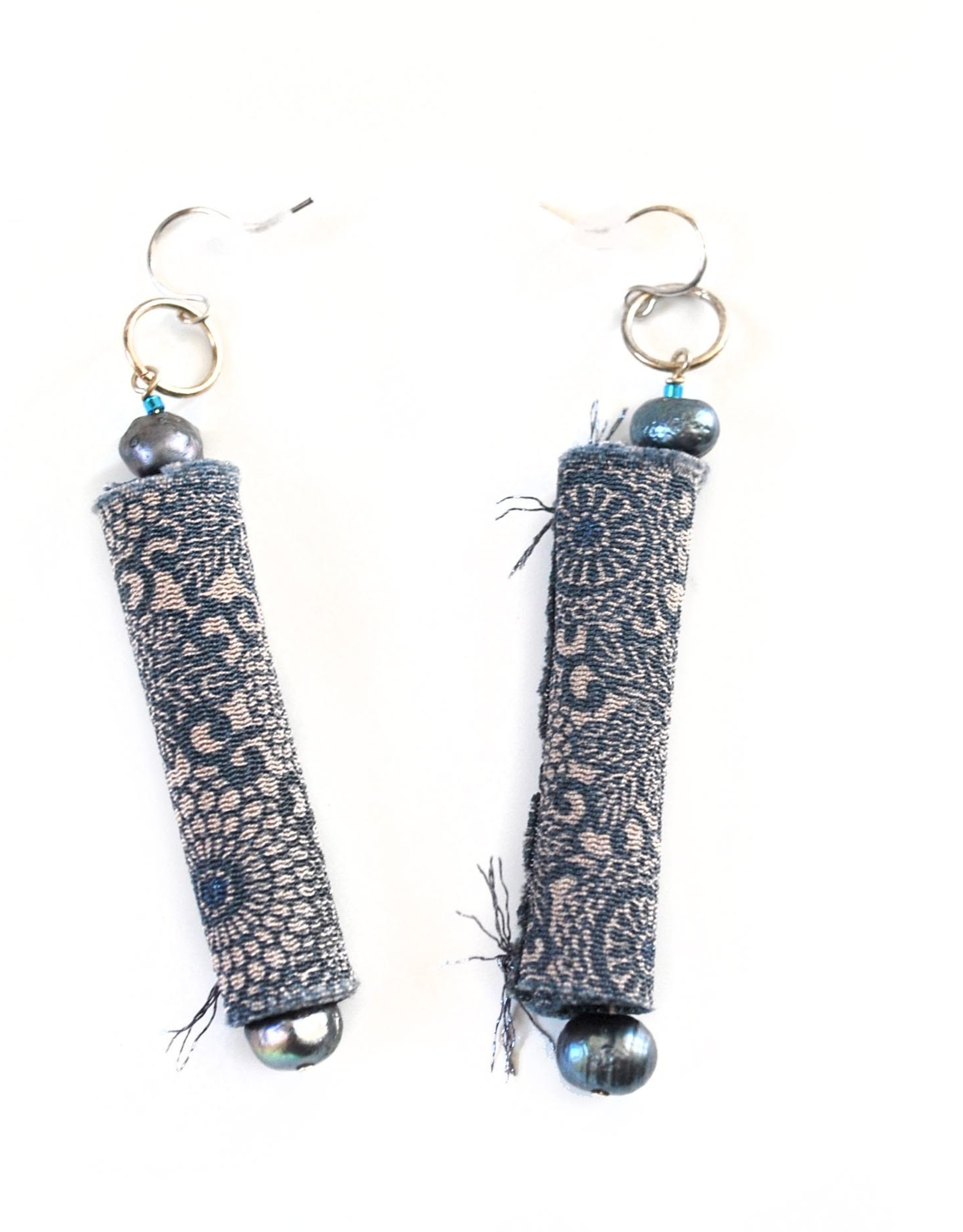 Silk Earrings with Pearls by Jason Hall