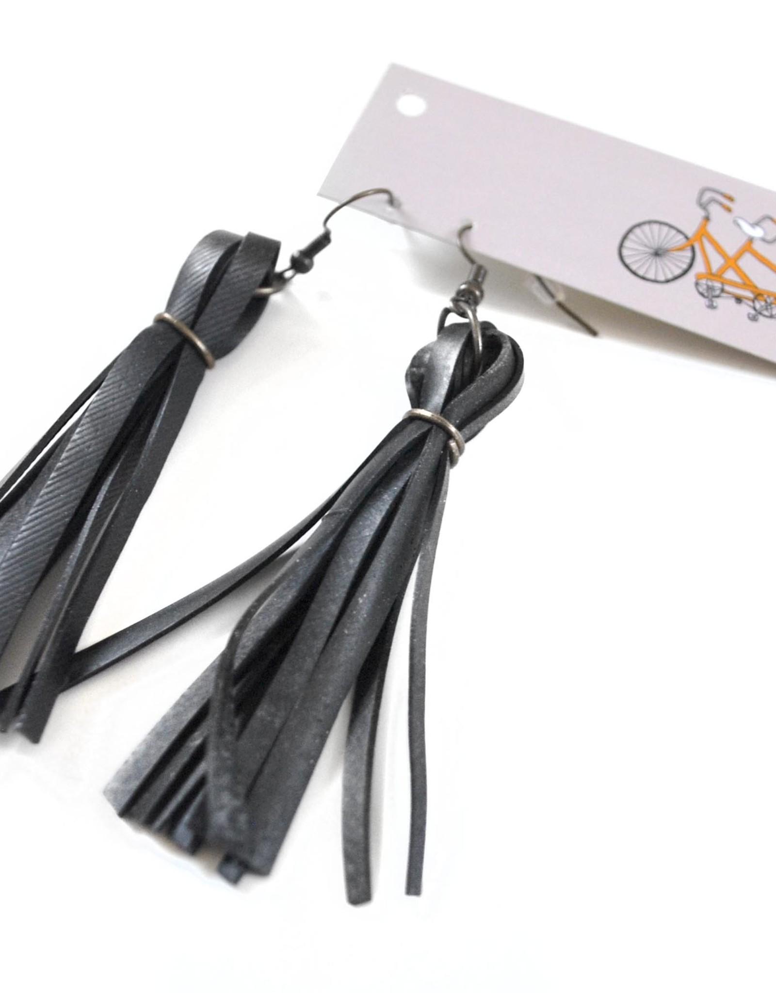 Fringe Earrings on Earwire by True Partners in Craft