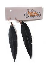 Feather Earrings on Earwire by True Partners in Craft
