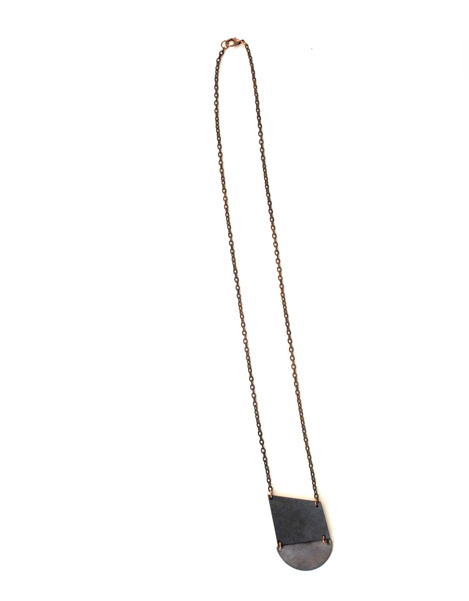 True Partners in Craft Half Moon Necklace by True Partners in Craft