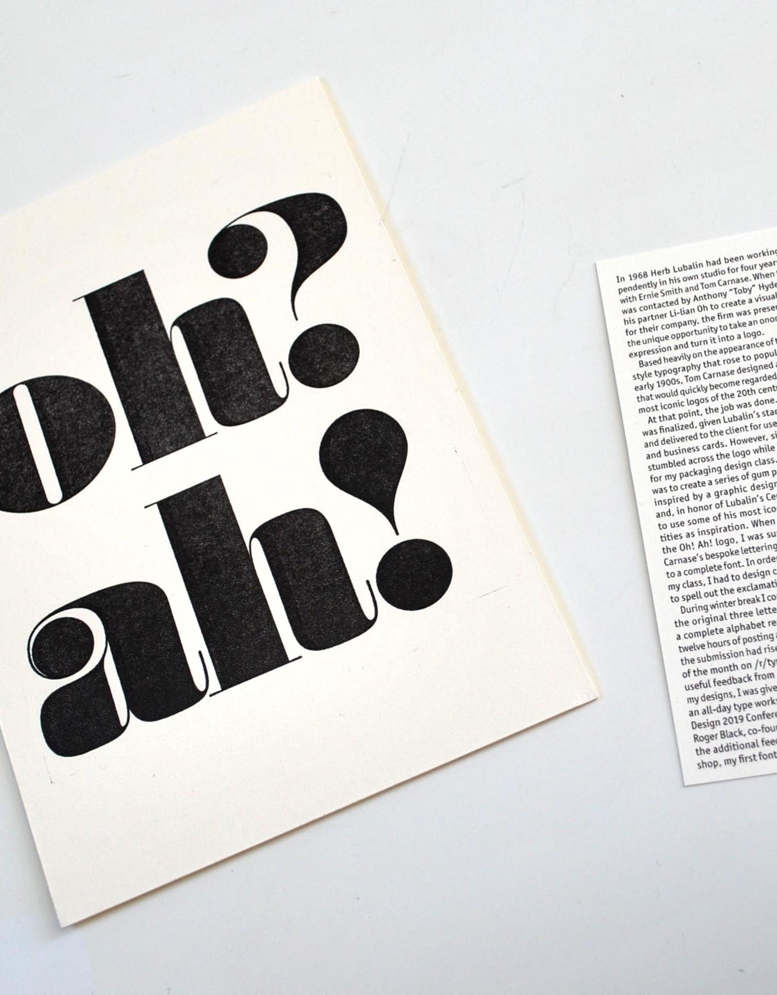 """Ben Hullinger """"Oh? Ah!"""" postcard print by Ben Hullinger"""