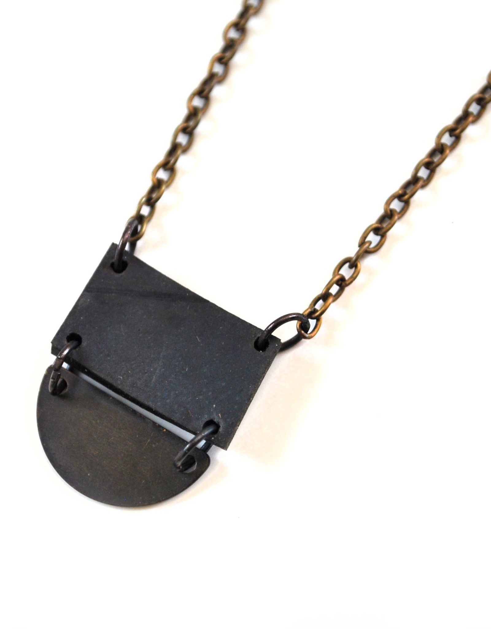 Mini Half Moon Necklace by True Partners in Craft