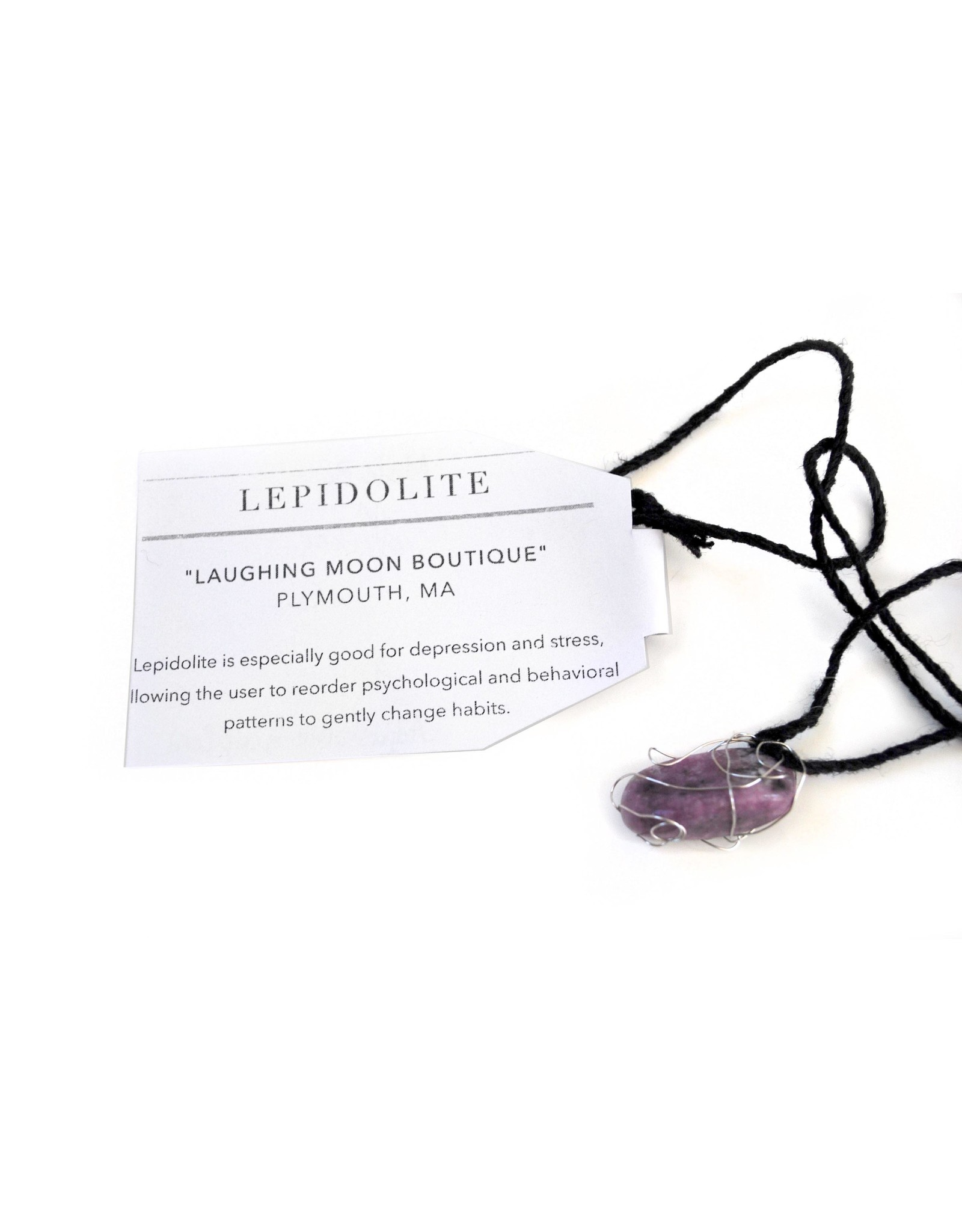 Lepidolite Necklace, Mikey Emme