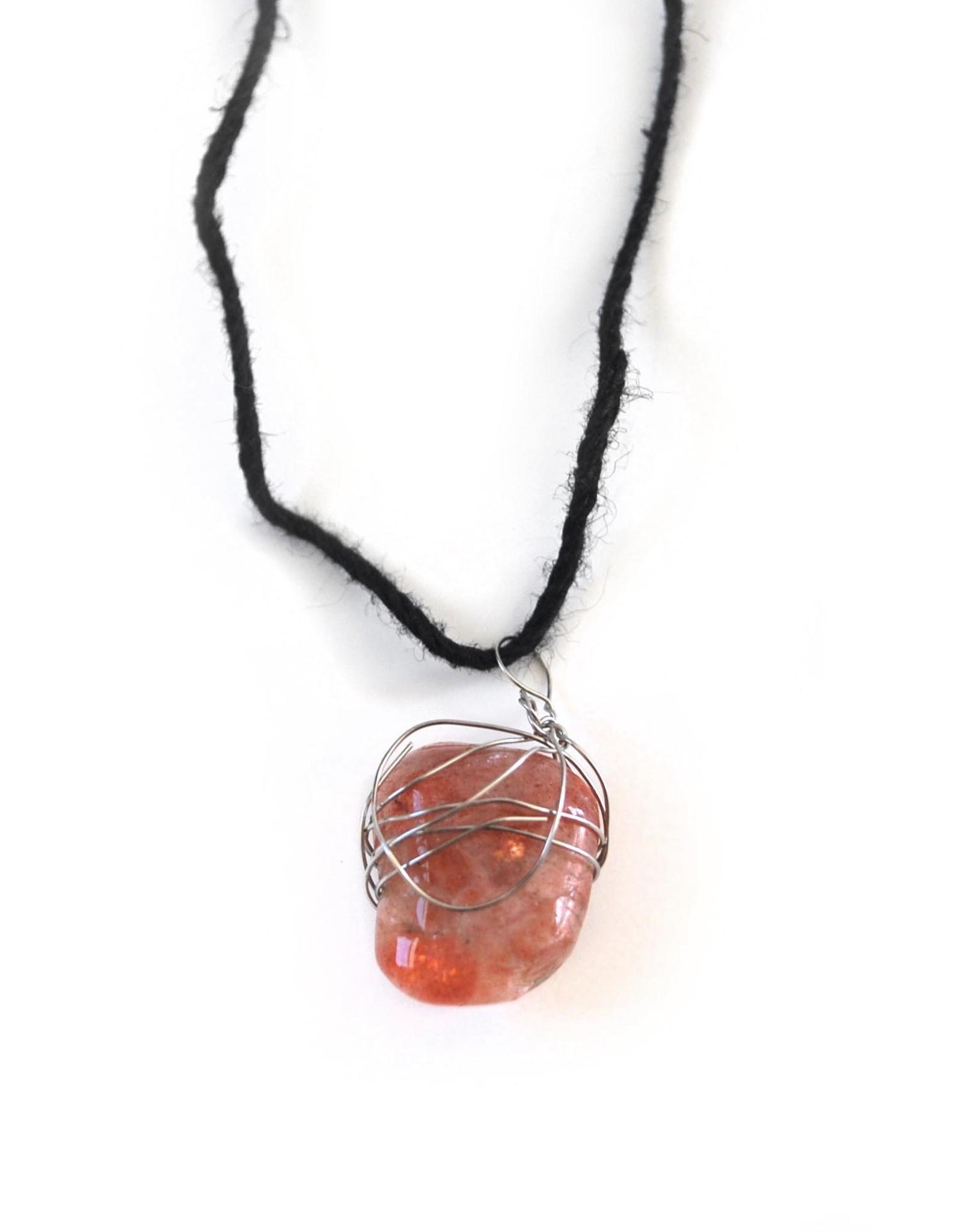 Sunstone Necklace by Mikey Tardy