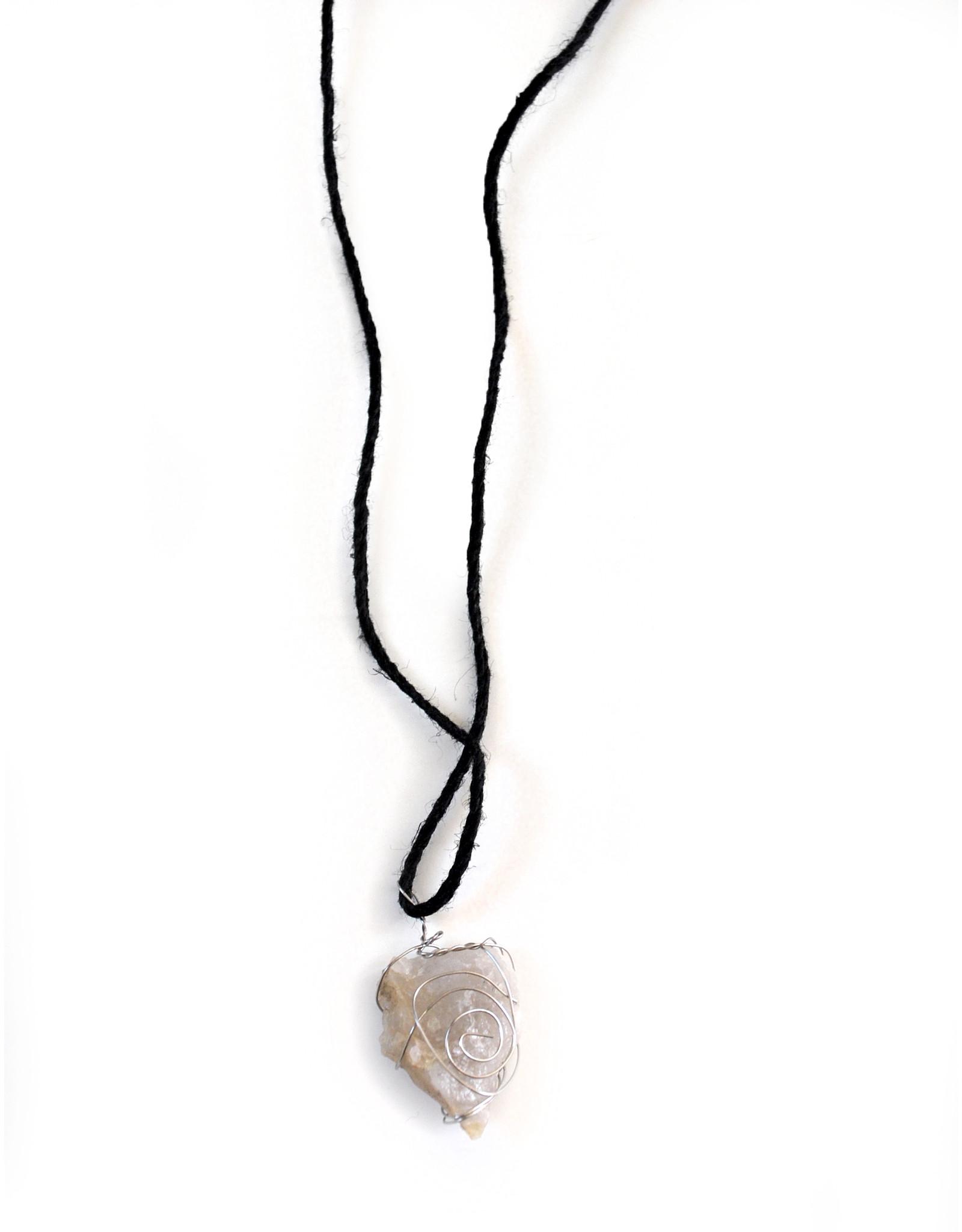 Clear Quartz Necklace, Mikey Emme