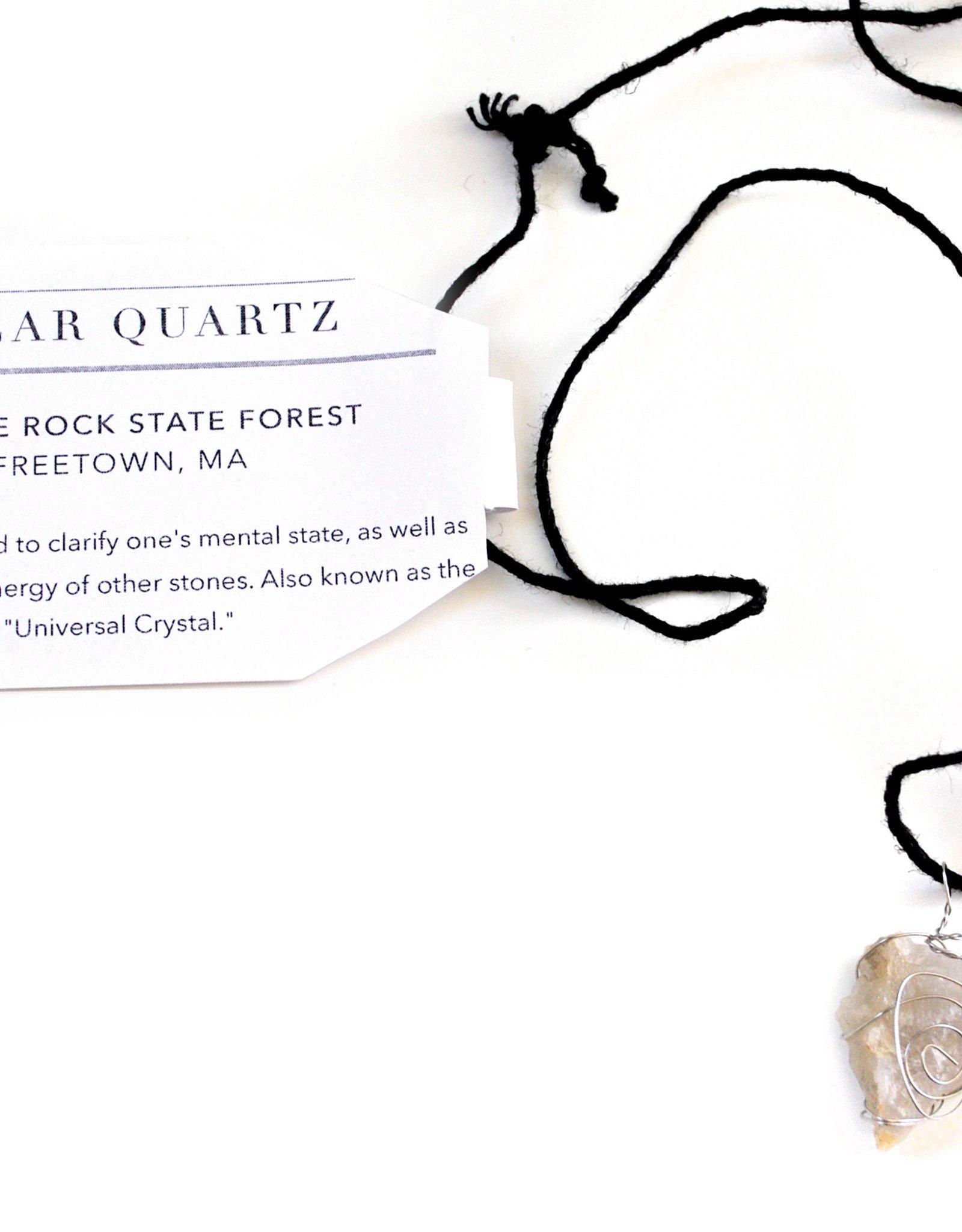 Clear Quartz Necklace by Mikey Tardy