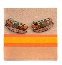 Handcrafted by Tracey Jean Chicago Hotdog Earrings by ALL THE KITTIES LOVE ME