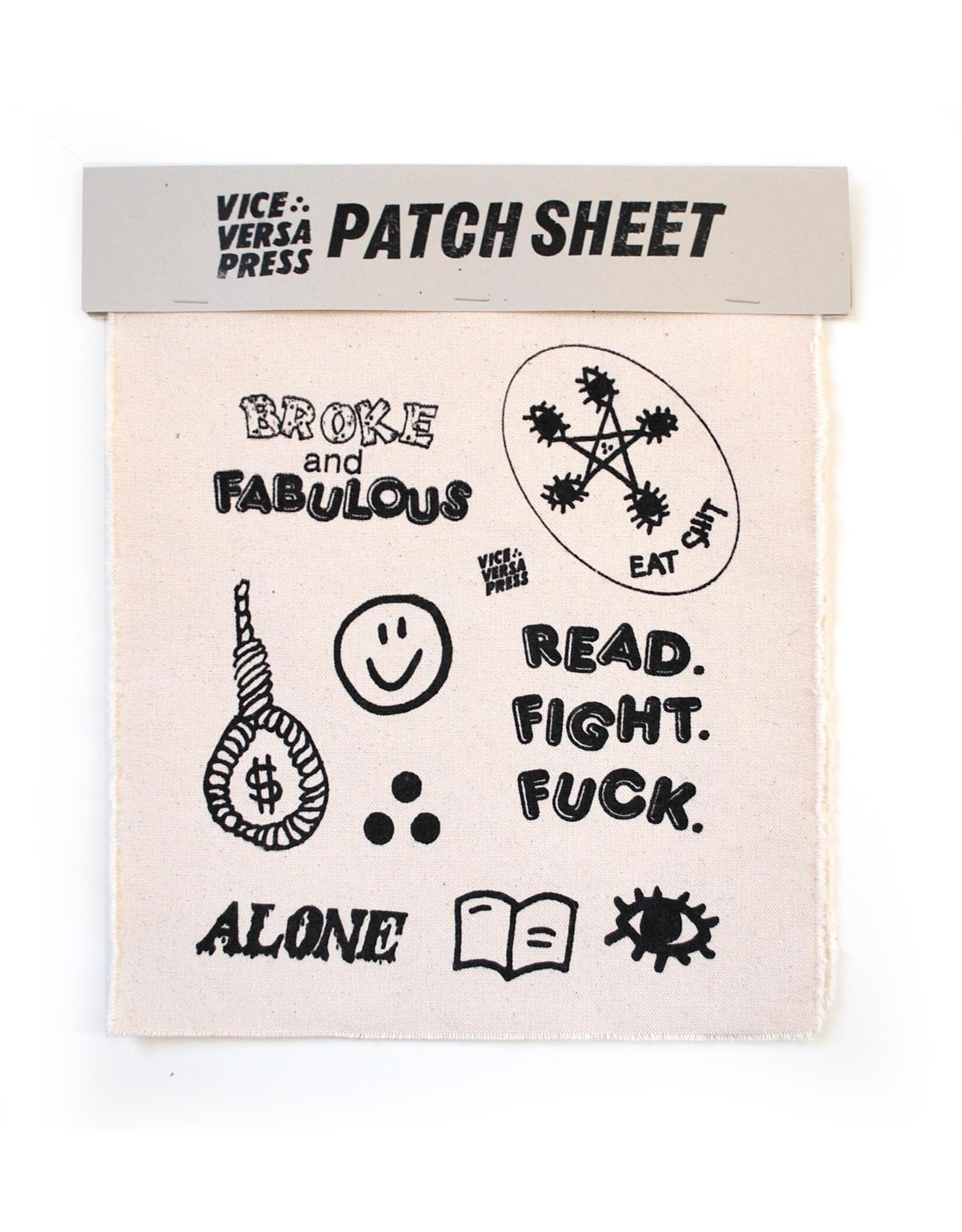 Julia Arredondo Vice Versa Press Patch Sheet  by Julia Arredondo