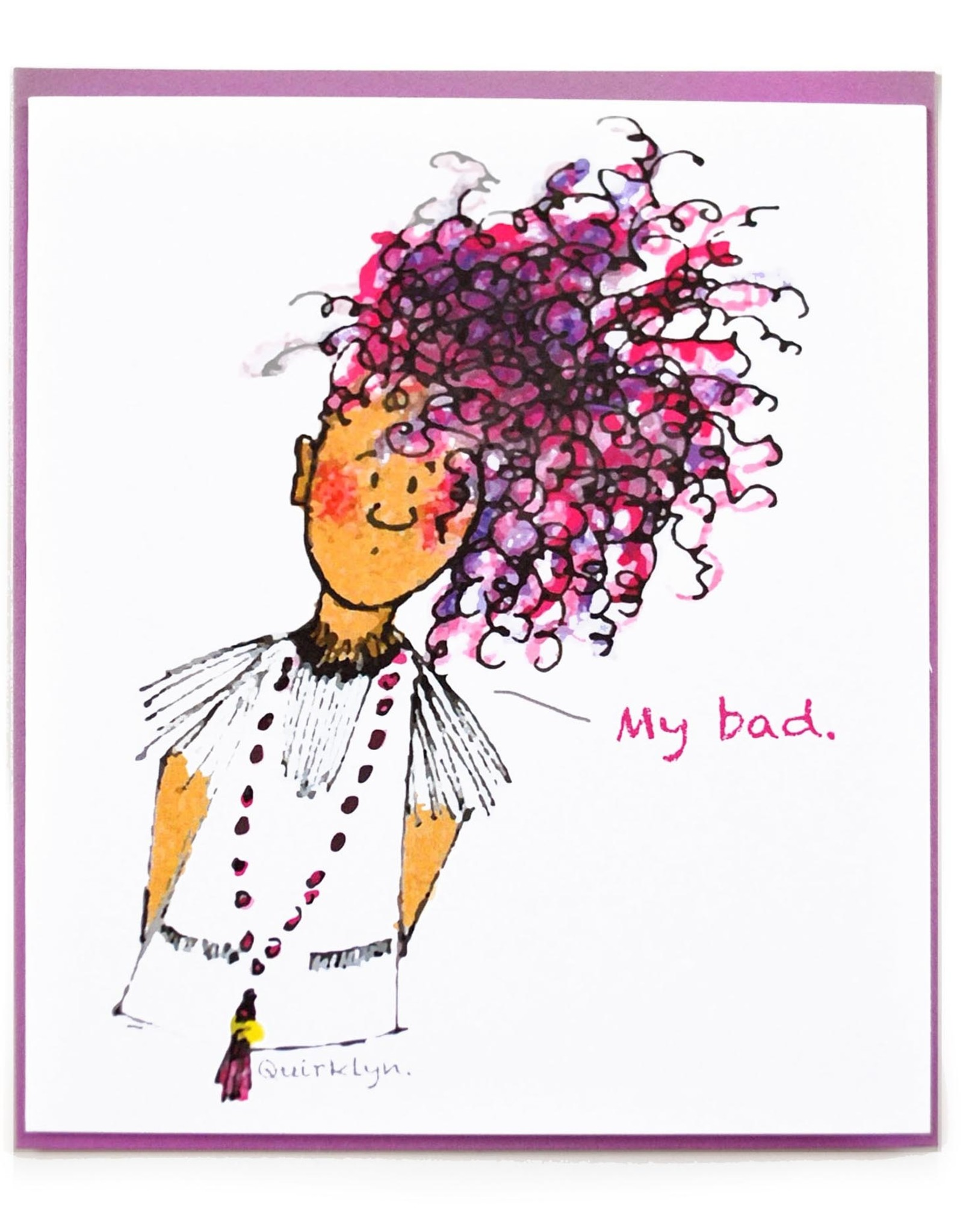 "Sam Kirk ""My Bad"" Greeting Card by Sam Kirk"