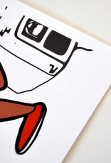 Sam Kirk Bucket Boys & Footwerks, 10x10, Stamped, by Sam Kirk