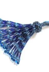 Knot Thinkers Tassle Pendant (cobalt)
