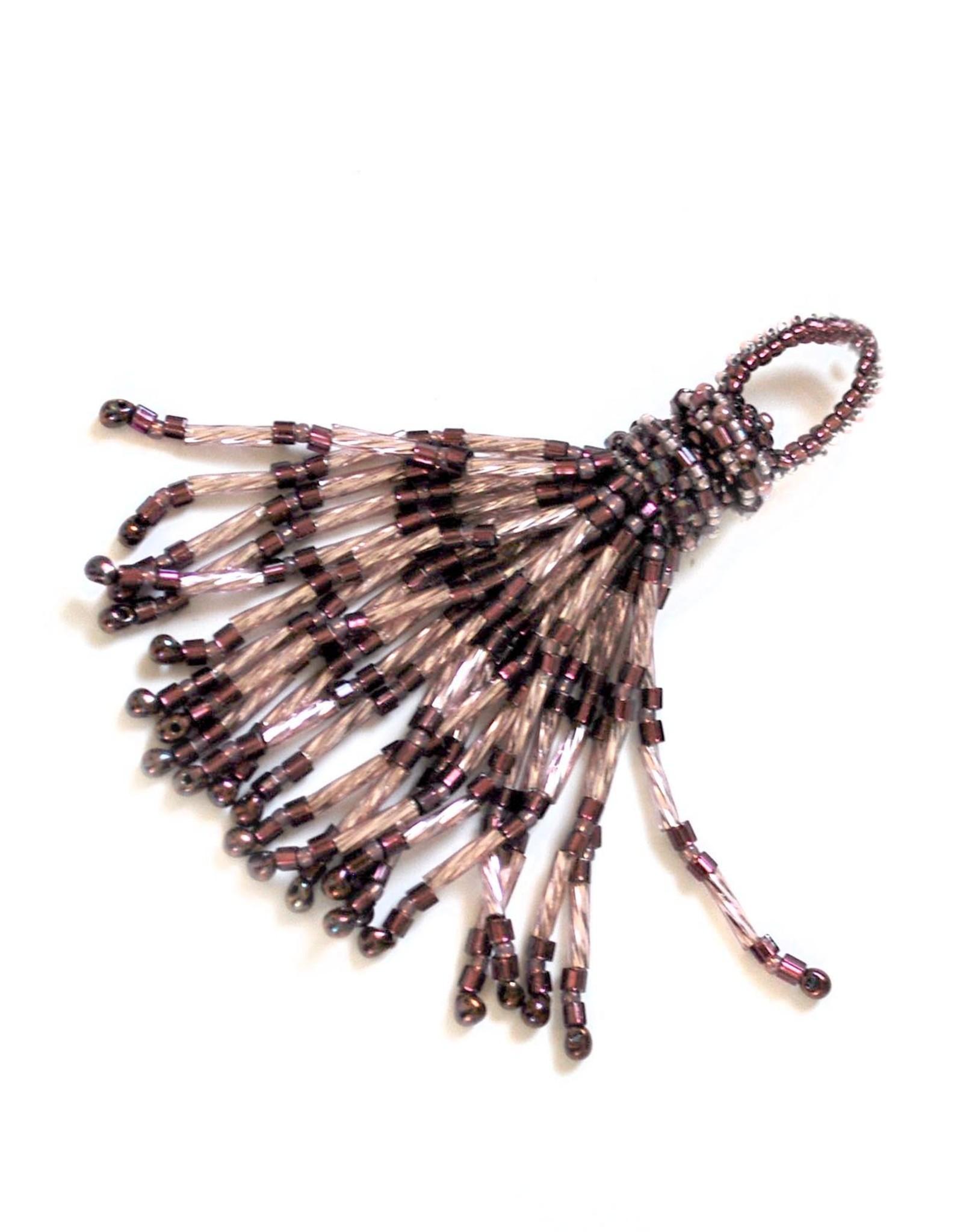 Knot Thinkers Tassle Pendant (amethyst)