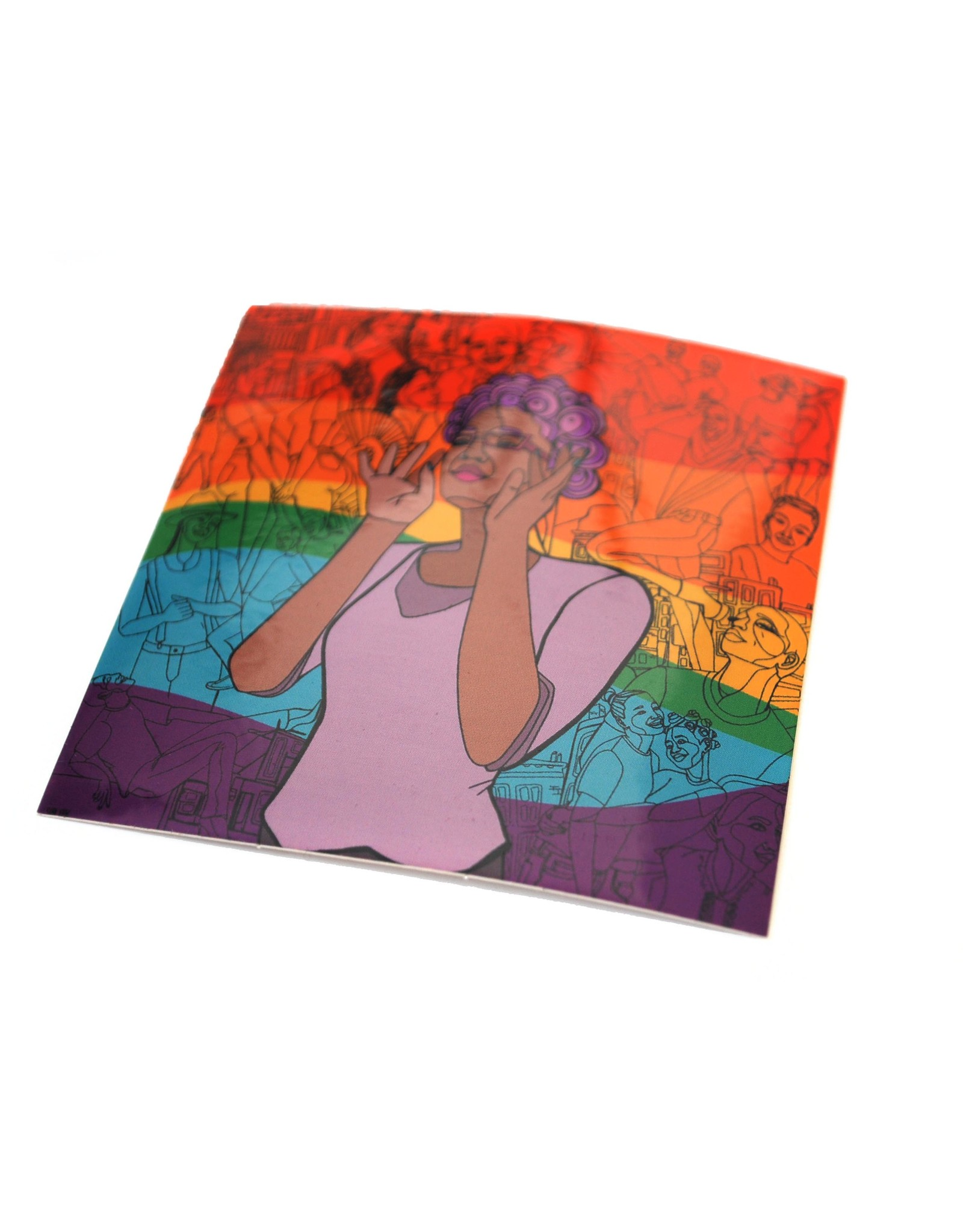 Sam Kirk Queertopia Rainbow Sticker by Sam Kirk