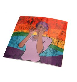 Sam Kirk Queertopia Rainbow Sticker by Sam Kirk