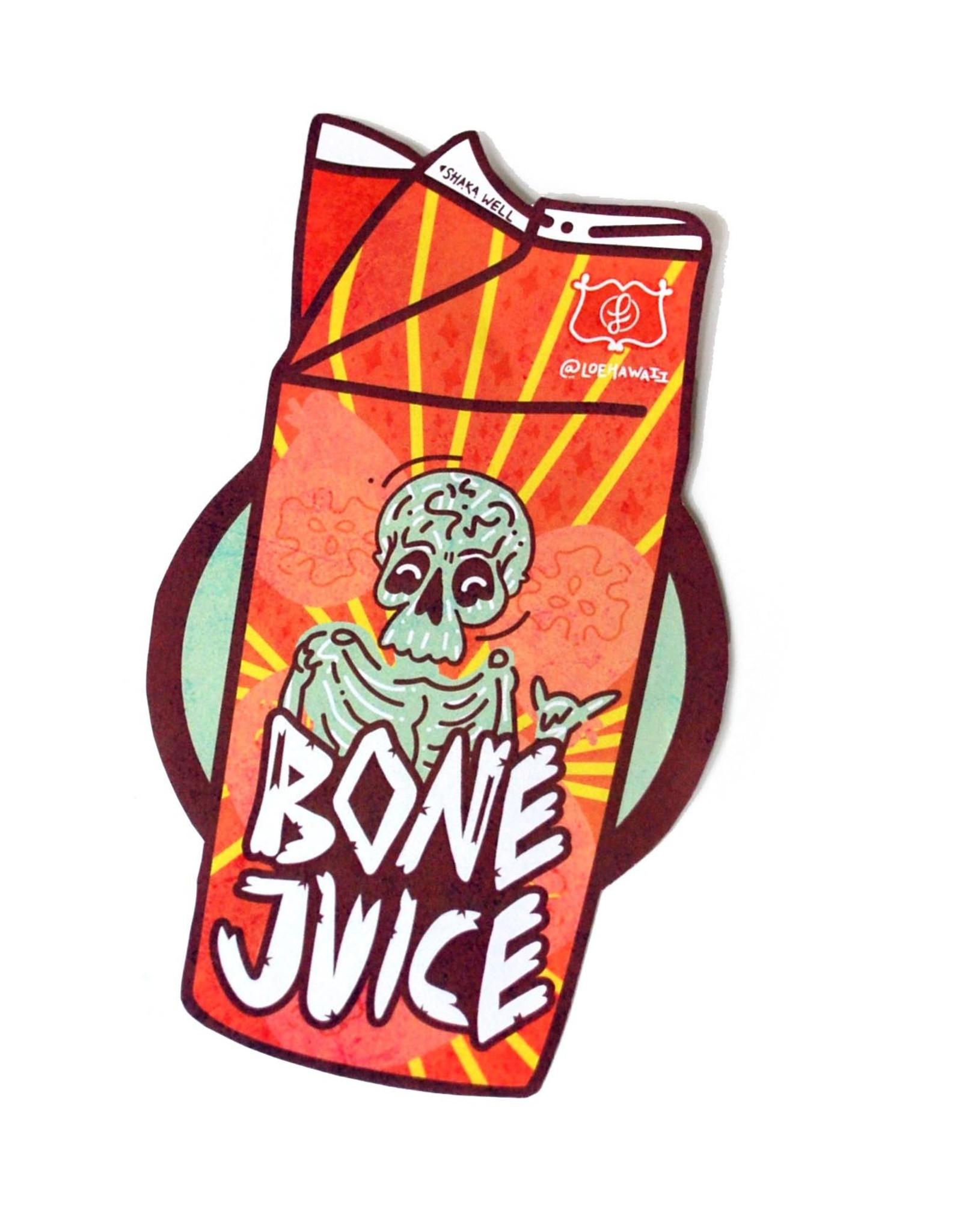"""""""Bone Juice Carton"""" sticker by LOEHAWAII"""