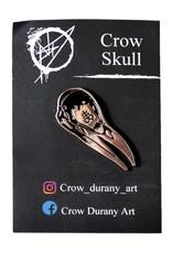 Crow Skull Pin by Noah Durany
