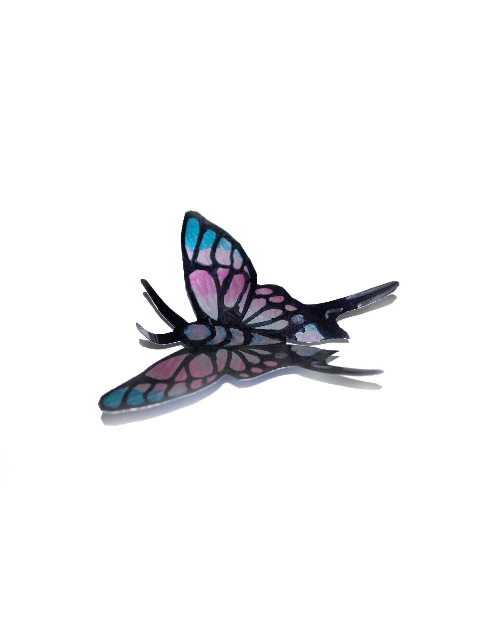 """Soda Can Butterfly"" Magnet by Sophia Abel"
