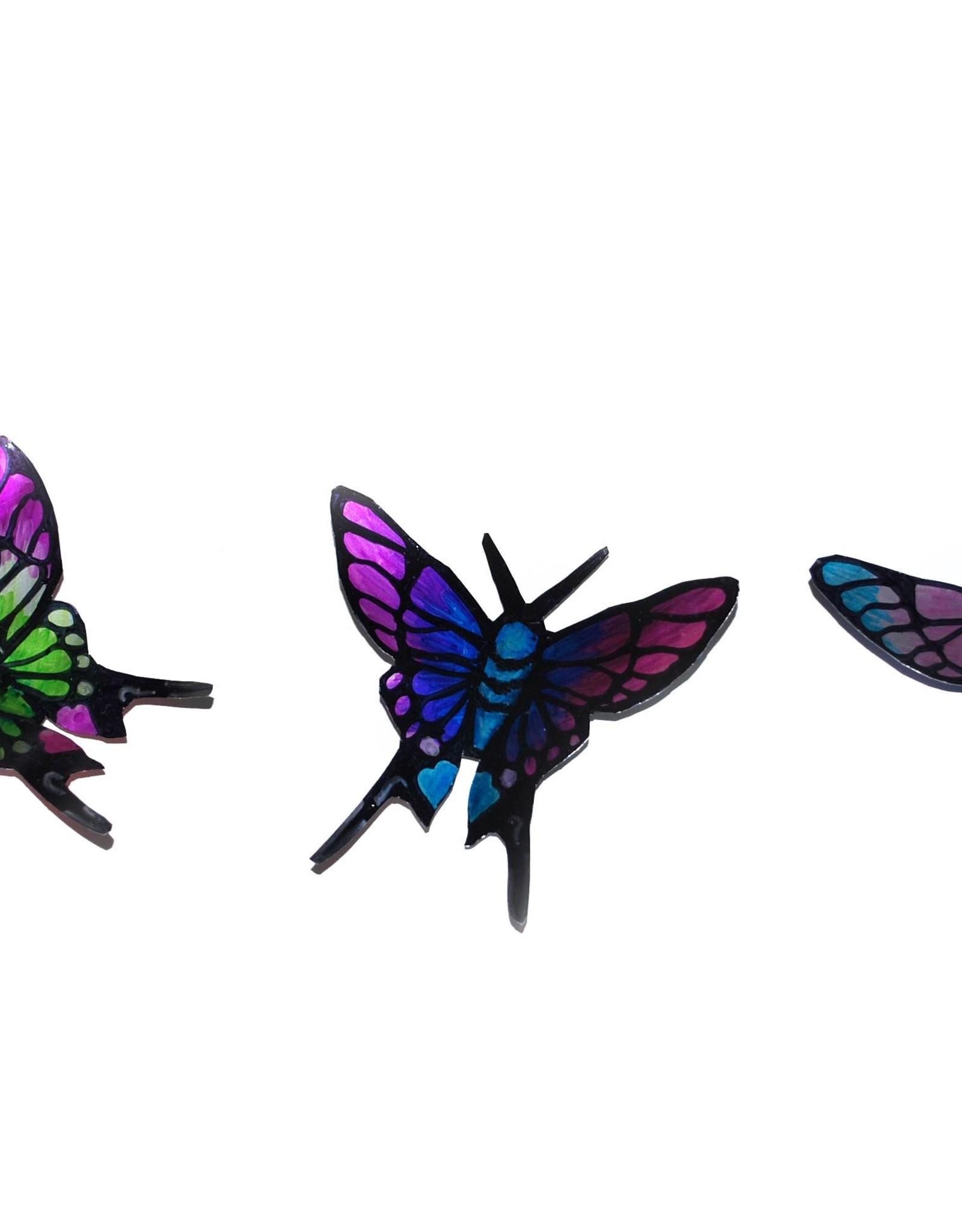 """""""Soda Can Butterfly"""" Magnet by Sophia Abel"""