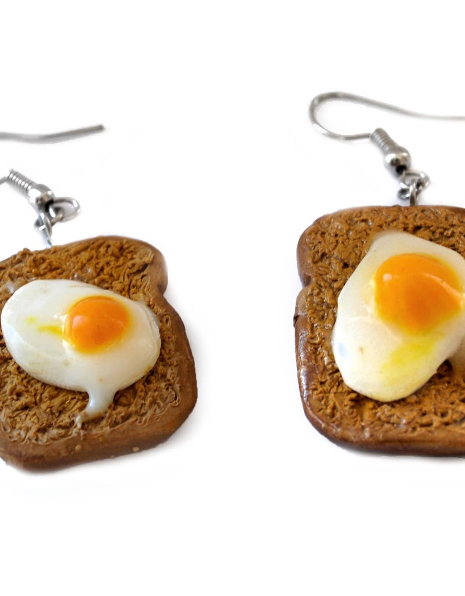 """""""Egg on Toast"""" Pair of Earrings by GERM Jewelry"""