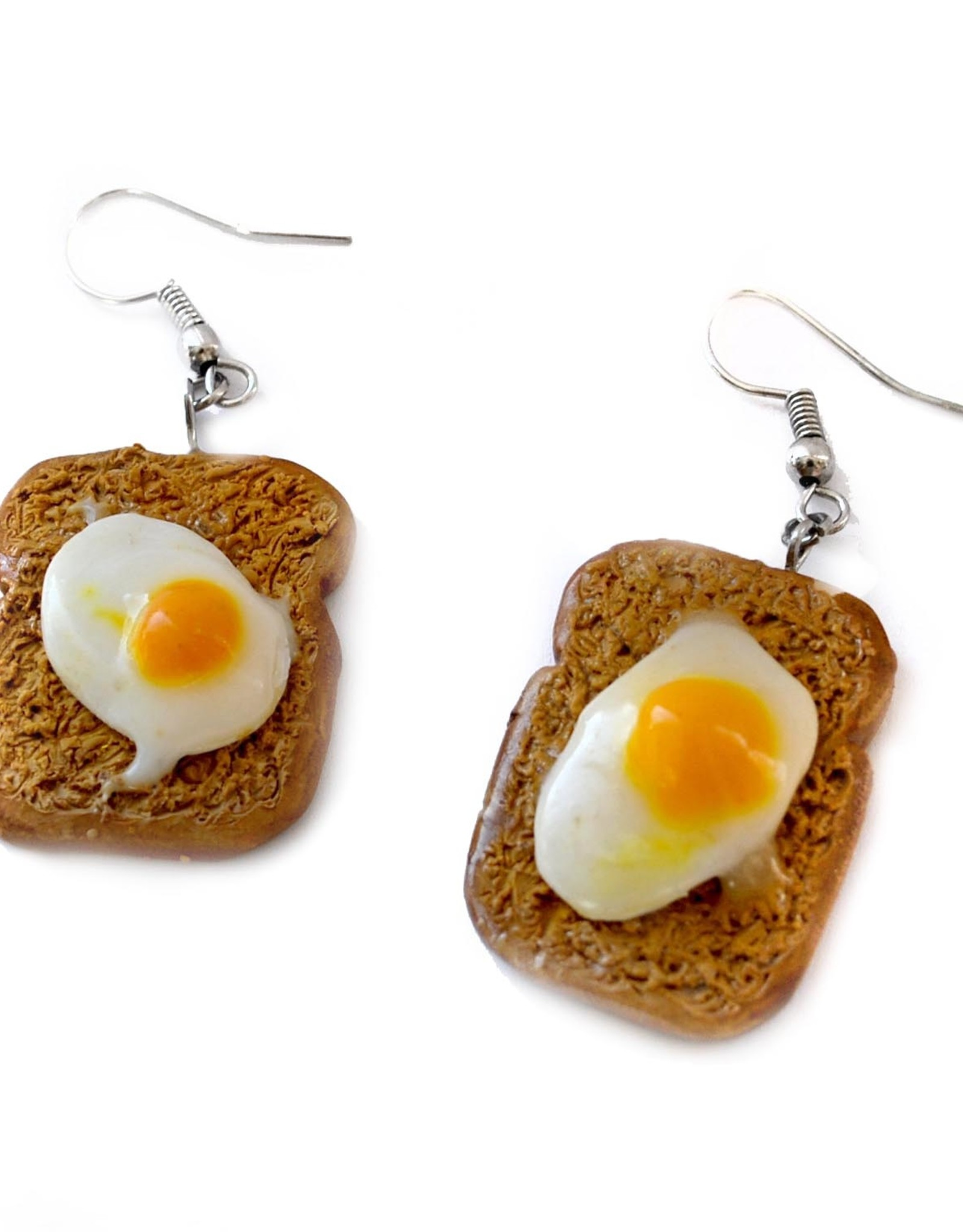 """""""Egg on Toast"""" Pair of Earrings by GERM Jewelry online"""