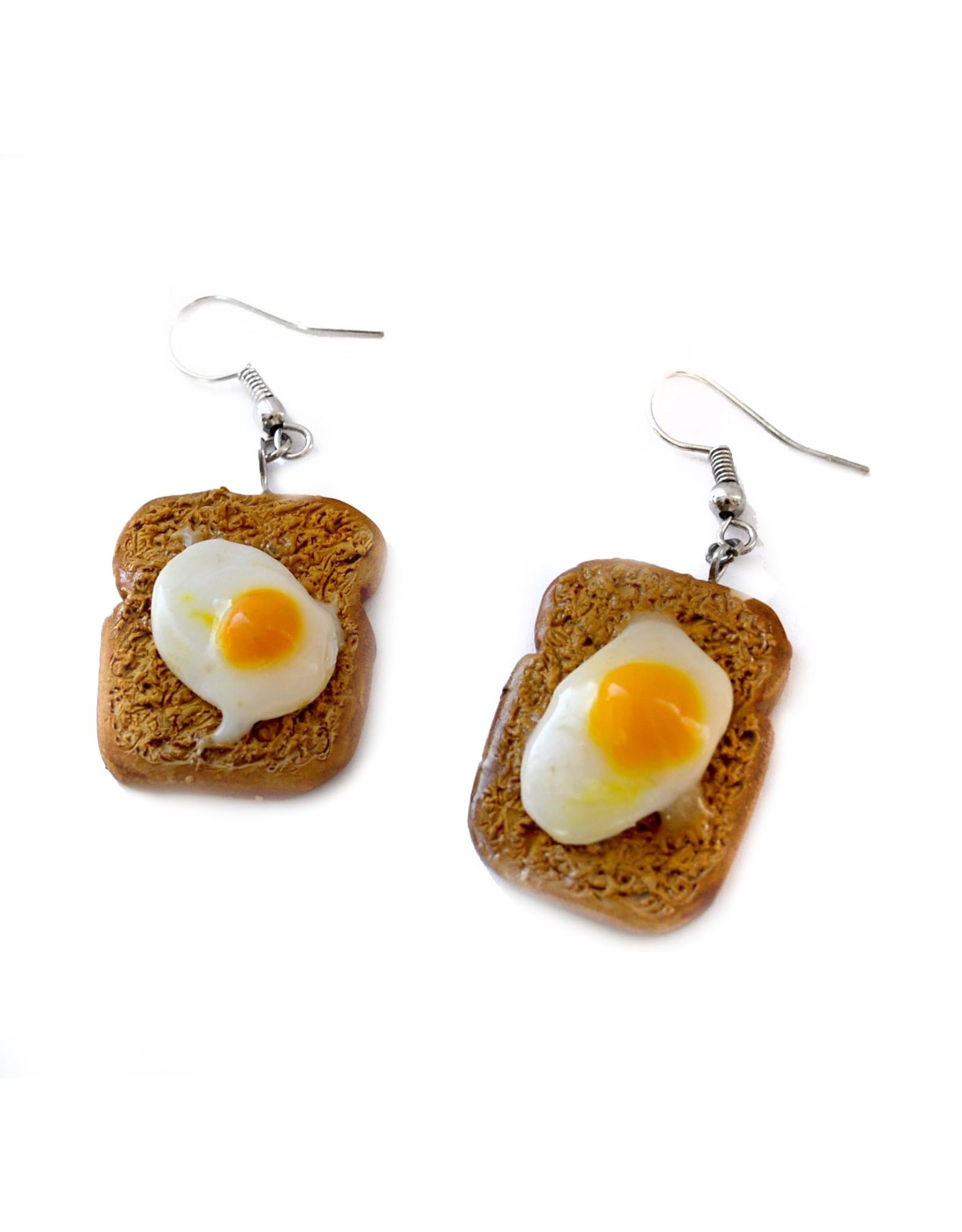 """Egg on Toast"" Pair of Earrings by GERM Jewelry online"
