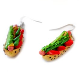 """Chicago Dogs"" Pair of Earrings by GERM Jewelry online"