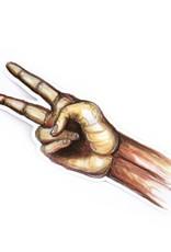Pale Artist Peace Hand Waterproof Vinyl Sticker by Pale Artist