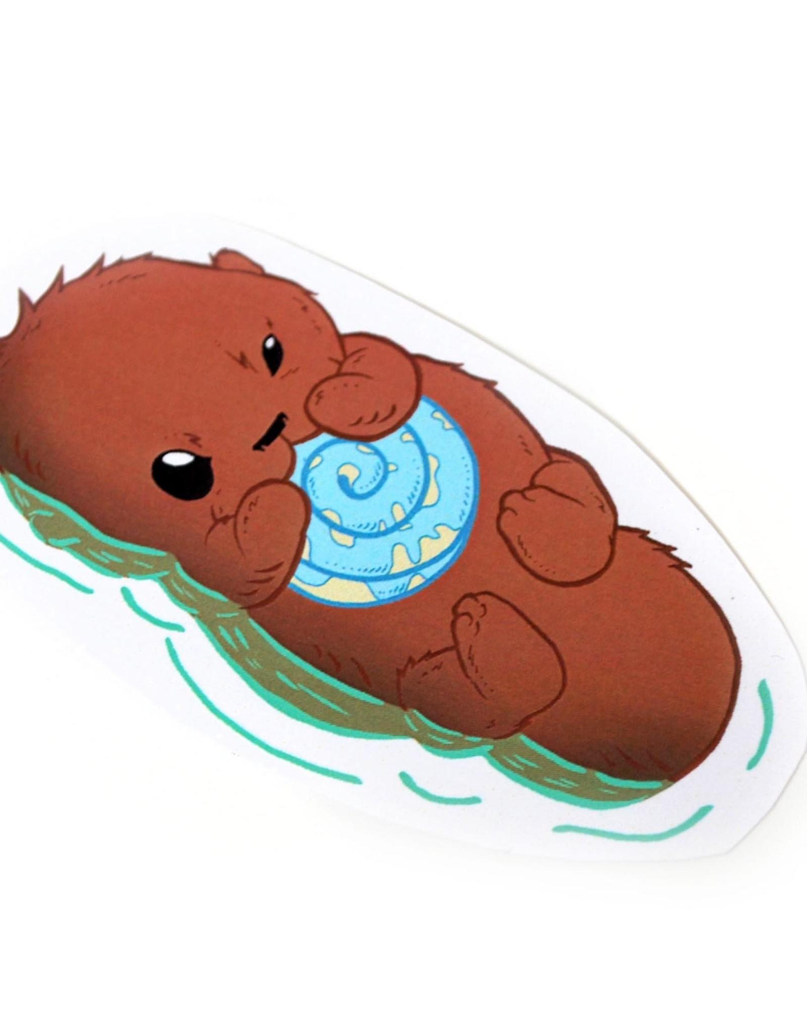 Knight Illustrations Phat Ass Small Otter Sticker by David Knight
