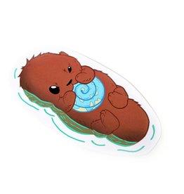 David Knight Phat Ass Small Otter Sticker by David Knight