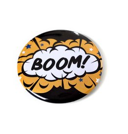 "Knight Illustrations Corvus Press ""Boom"" Button by David Knight"