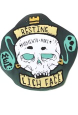 """Knight Illustrations Phat Ass """"Resting Lichen Face"""" Sticker by David Knight"""
