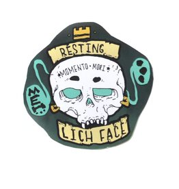 "Knight Illustrations Phat Ass ""Resting Lichen Face"" Sticker by David Knight"