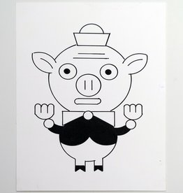 Ivan Brunetti Pig,  Illustration by Ivan Brunetti