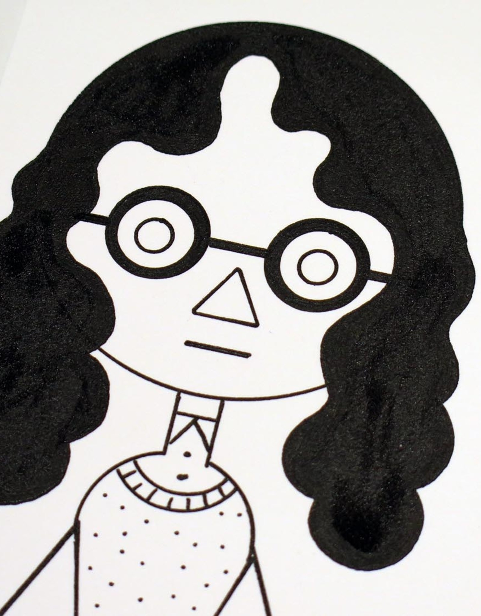 Ivan Brunetti Woman #1,  Illustration by Ivan Brunetti