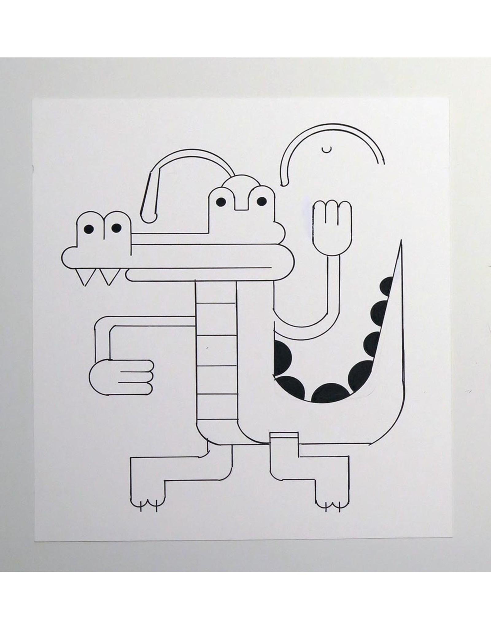 Ivan Brunetti Alligator, Illustration by Ivan Brunetti