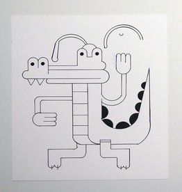 Ivan Brunetti Alligator, Illustration by Ivan Brunetti