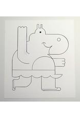 Ivan Brunetti Hippo, Illustration by Ivan Brunetti