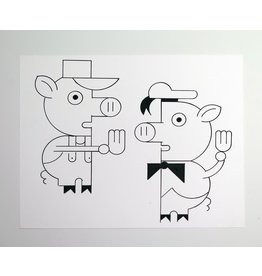 Ivan Brunetti Pigs, Illustration by Ivan Brunetti