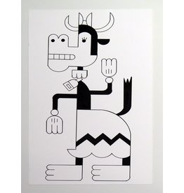 Ivan Brunetti Cow,  Illustration by Ivan Brunetti