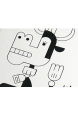 Ivan Brunetti Cow,  Illustration by Ivan Brunetti