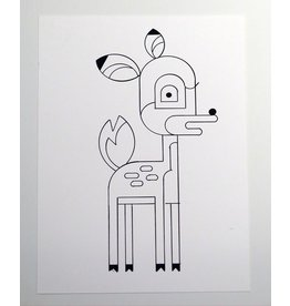 Ivan Brunetti Deer, Illustration by Ivan Brunetti