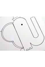 Ivan Brunetti Elephant, Illustration by Ivan Brunetti