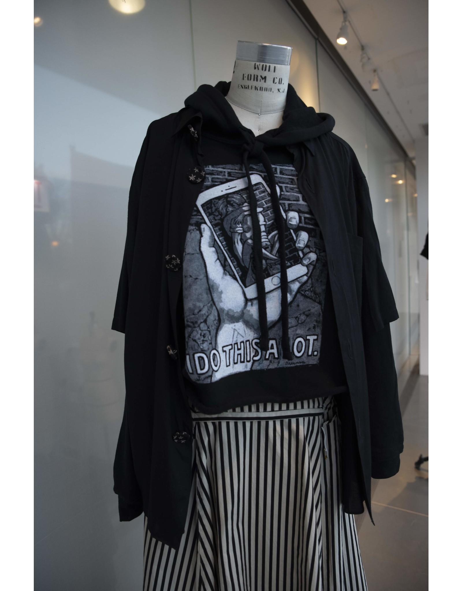 Cropped hooded sweatshirt, Fashion Underground