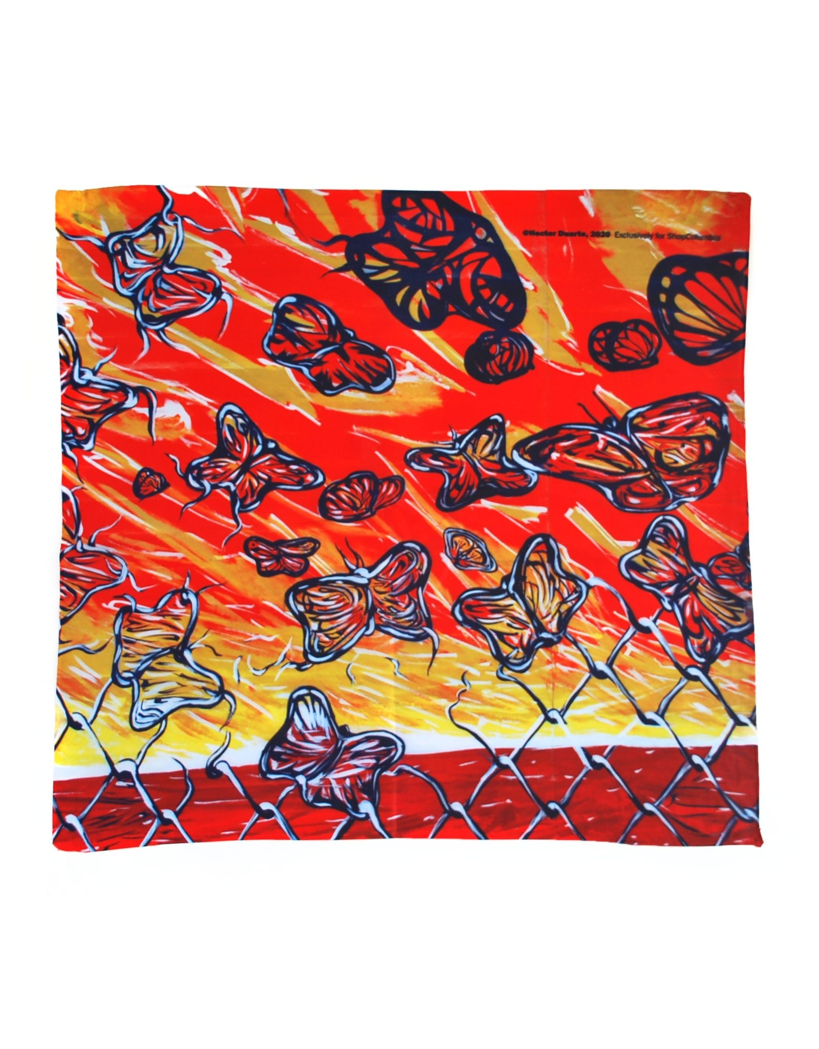 Buy Columbia, By Columbia Desenredando Fronteras scarf by Hector Duarte