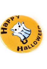 Ghost Cat Button by Colleen Hogan