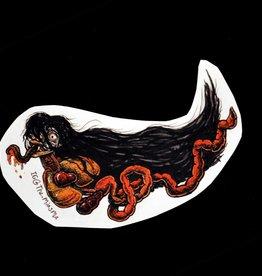 """""""Penanggalan"""" orange sticker by The Miasma"""